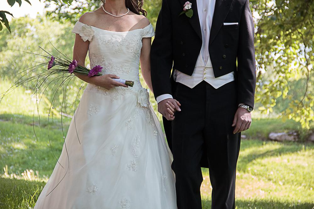Bröllopsfotografering vid slottet i Uppsala