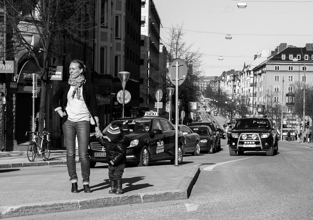 Fotografering mitt i Stockholm