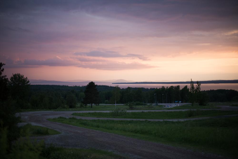 Solnedgång i Rättvik