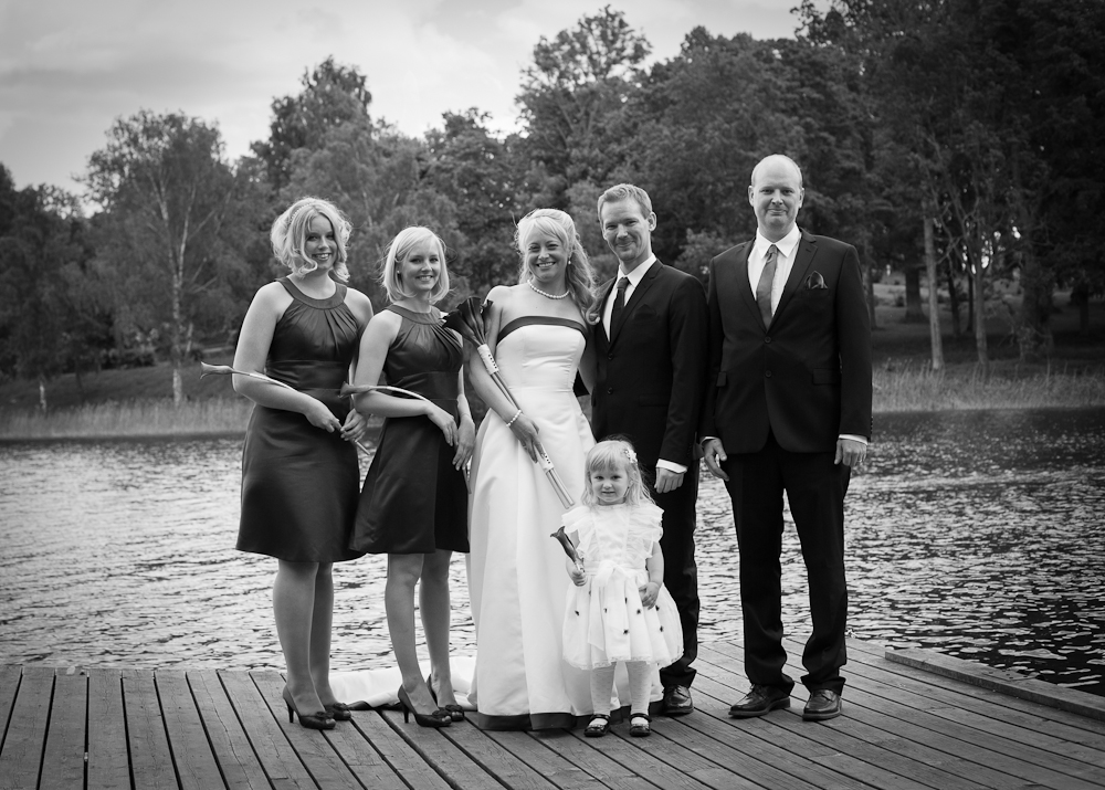 Gruppbild vid bröllop