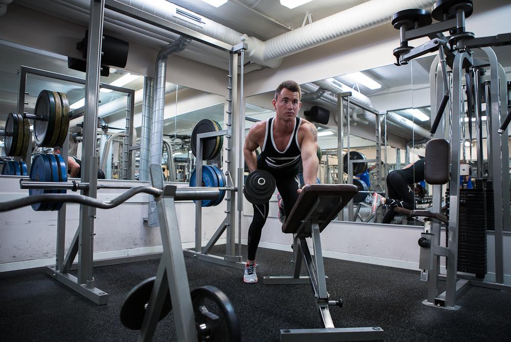 Staffan Eklund i gymmet
