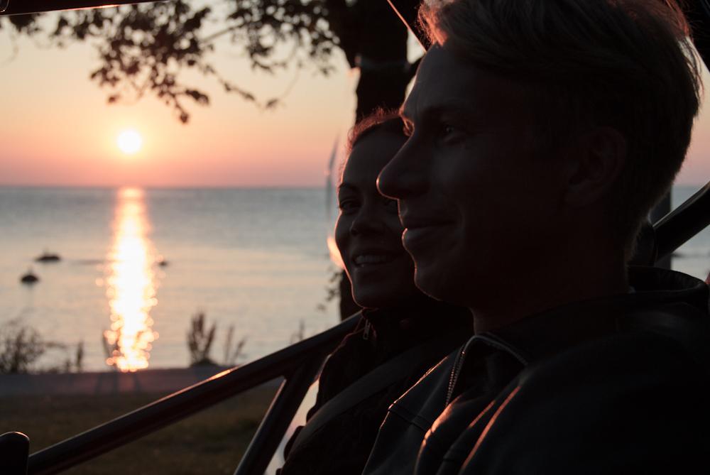 Solnedgång i Visby
