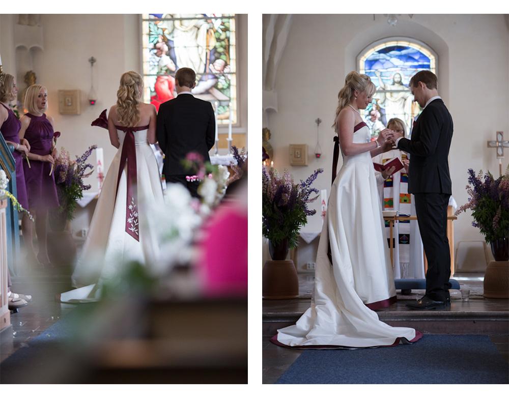 Erika och Thomas i kyrkan