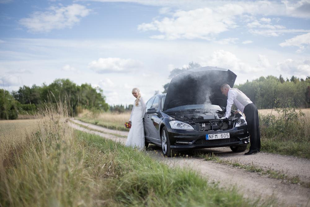 Motorstopp vid bröllop