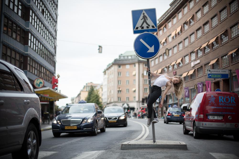 Pole dance på gatan