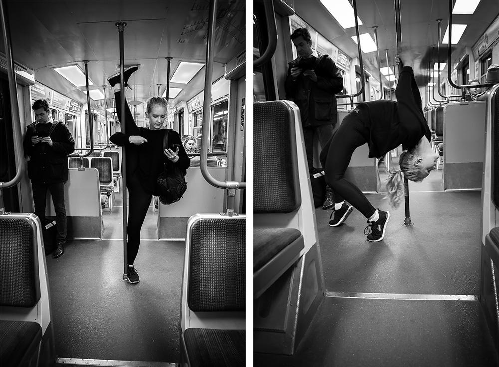 Åka tunnelbana lite bara