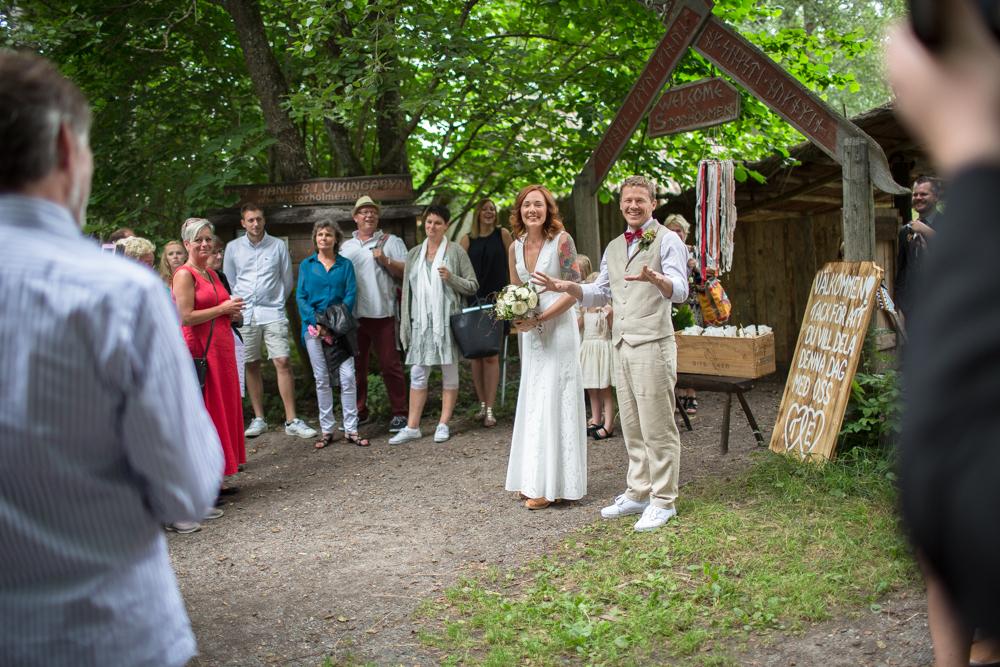 Bröllopssällskapet samlas